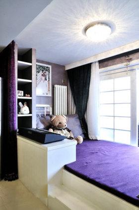 紫色浪漫现代风格榻榻米图片