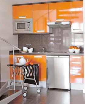 简约橙色厨房设计赏析