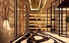 2016时尚橙色典雅中式玄关装潢设计