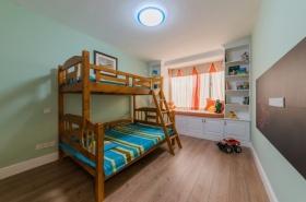 美式风格绿色清新儿童房装潢案例