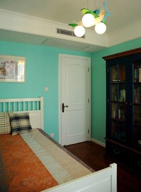 2016绿色简约风格卧室吊顶装修效果图