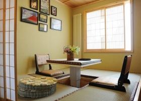 黄色雅致日式简约榻榻米装修效果图片