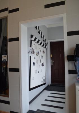 黑色个性现代风格照片墙设计欣赏