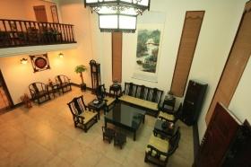 新古典风格橙色客厅装修效果图