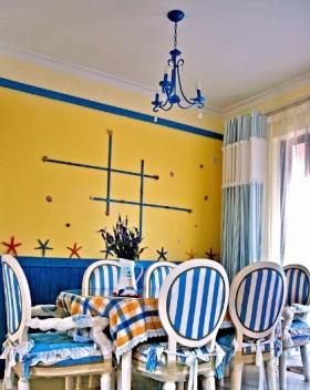 蓝色地中海餐厅吊顶美图欣赏