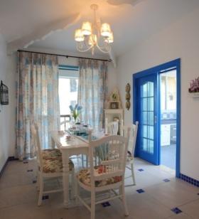 地中海风格蓝色餐厅吊顶美图