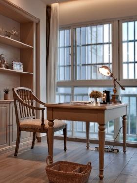 白色简约风格书房设计欣赏