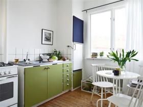 白色清新宜家风厨房美图欣赏