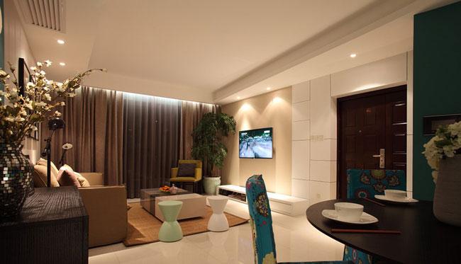 新中式创意简约风格客厅设计图