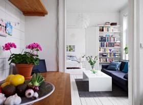 白色宜家风格客厅过道效果图欣赏