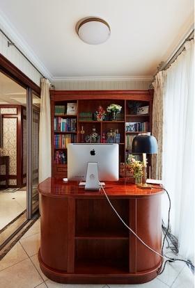 2016原木美式风格书房效果图设计