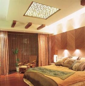 橙色东南亚风格卧室设计图片