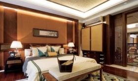 红色典雅东南亚风格卧室装修设计