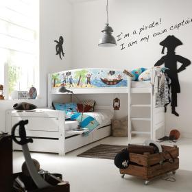 白色简约风格儿童房设计图片