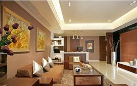 简洁现代风格客厅吊顶设计装潢