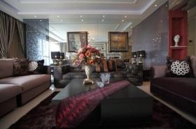 暗色混搭风格客厅装修效果图片