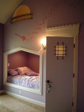 紫色浪漫现代风格儿童房图片欣赏