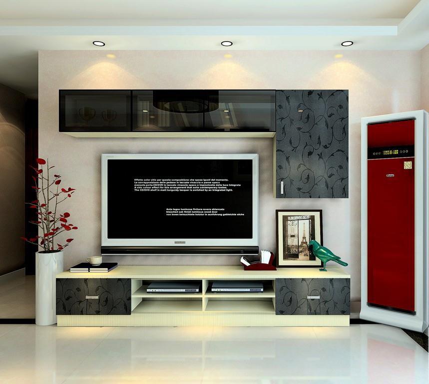 现代简洁风格电视背景墙装饰图