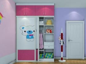 现代风格蓝色儿童房衣柜装饰图
