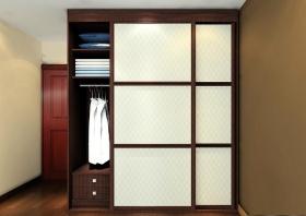 褐色中式风格衣柜美图
