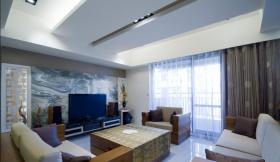雅致中式客厅吊顶装修布置