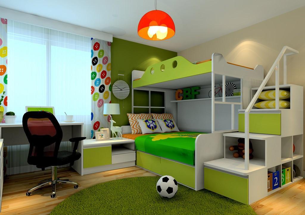 绿色田园风格客厅装修图片