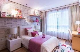 简约风格紫色儿童房装修