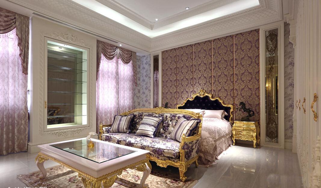 轻奢欧式风格米色卧室装修赏析