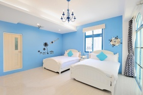 蓝色地中海儿童卧室装修效果图设计