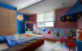 蓝色清新宜家风格儿童房装修赏析