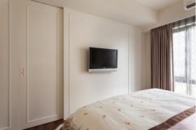 米色简约风格卧室电视背景墙设计