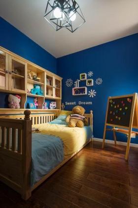 2016淡雅蓝色田园风格可爱儿童房图片赏析