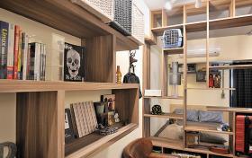 欧式风格书房收纳书柜装潢设计