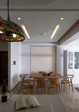 田园风格餐厅吊顶装修效果图