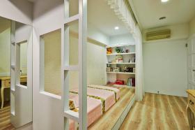 粉色田园风格儿童卧室装潢设计