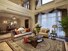欧式别墅精美客厅大气装修布置