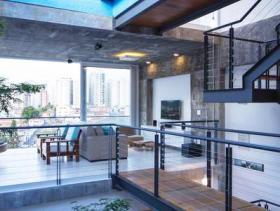 现代是时尚别墅客厅设计装潢