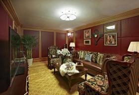 经典新古典风格客厅吊顶装饰图