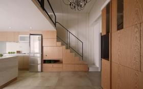 田园风格温馨米色楼梯装修设计