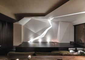 黑色现代风格客厅榻榻米效果图赏析