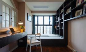 现代简洁混搭书房榻榻米效果图欣赏