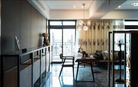 混搭风格蓝色餐厅吊顶装修案例