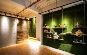 绿色清新田园风格背景墙装修