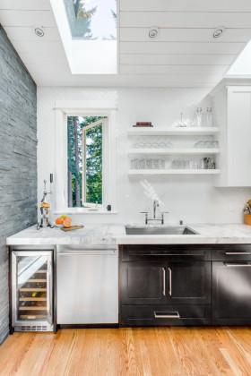 美式灰色厨房设计欣赏