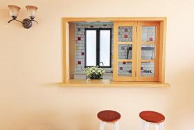 田园米色厨房吧台设计赏析
