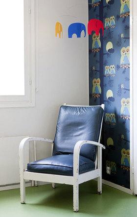 蓝色个性复古美式时尚休闲沙发欣赏