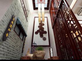 中式原木雅致隔断设计图片