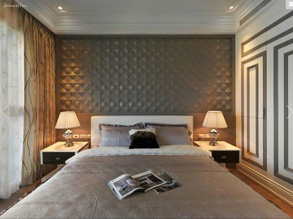 欧式风格轻奢灰色卧室装修赏析
