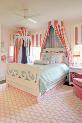 美式风格浪漫米色儿童房效果图设计