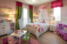宜家风格浪漫粉色儿童房设计图